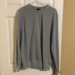 Relaxed grey crew neck sweatshirt